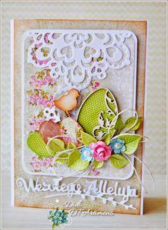 A beautiful Spring or Easter handmade and designed by DT Dido for Artimeno. Prior pin: Blog+sklepu+Artimeno:+Wielkanocne+dekoracje