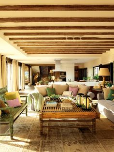 Home Decor, like the use of natural woods, the natural color of brown, and the light, but at first glance, it has a little to much brown