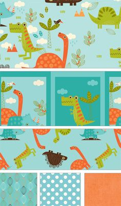 Dinosaur by RBD Designers for Riley Blake Designs