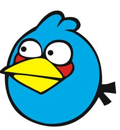 blue angry bird