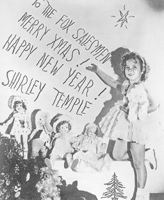 Shirley Temple's Christmas message to the salesmen at 20th Century Fox, 1935.
