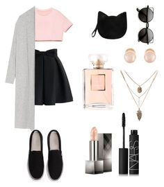 """"" by mintopie on Polyvore featuring beauty, M&Co, Chicwish, Joseph, Forever 21, Kenneth Jay Lane, Burberry and NARS Cosmetics"