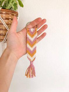 Your place to buy and sell all things handmade Yarn Bracelets, Embroidery Bracelets, Summer Bracelets, Bracelet Crafts, String Bracelets, Diy Friendship Bracelets Patterns, String Bracelet Patterns, Armband Diy, Bracelet Tutorial