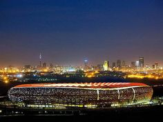 The stunningly dramatic FNB Stadium in Johannesburg, South Africa