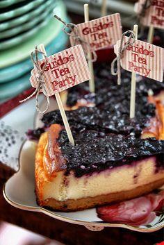 PopUp Tearoom - Blueberry Cheesecake by kbo, via Flickr