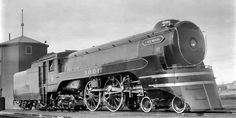 Jubilee Locomotive 4-4-4 Engine No. 3001, which powered the Chinook train that ran between Calgary and Edmonton, Alberta. Introduced by CPR in 1936