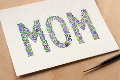 Watercolour Floral Card