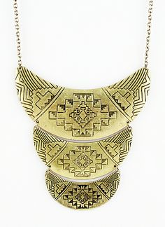 Gold Vintage Multilayer Collar Necklace