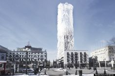 """Strawscraper"" tower in Stockholm could use 'hairs' to generate electricity #Architecture #Science"