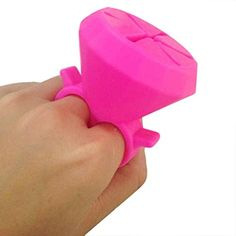 TOOPOOT Silicone Wearable Nail Polish Holders Nail Polish Bottle Stand Ring For Women Girls hot pink *** Find out more about the great product at the image link.Note:It is affiliate link to Amazon. #comments