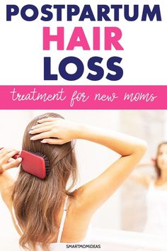 Postpartum hair loss help for first time moms. Breastfeeding postpartum hair loss, new mom postpartum hair loss remedies to help you! Baby Hair Loss, Hair Loss Cure, Oil For Hair Loss, Stop Hair Loss, Prevent Hair Loss, Home Remedies For Hair, Hair Loss Remedies, Normal Hair Loss, Postpartum Hair Loss