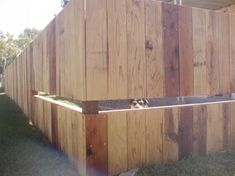 great idea for a pet fence, to keep your dogs in but let them see out
