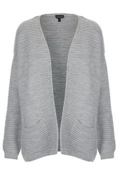 ++ knitted panel yoke cardi