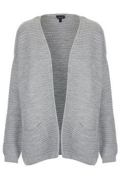 ++ knitted panel yoke cardi