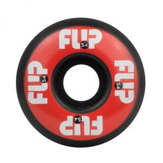 Flip Odyssey Logo 54mm - 99A Skateboard Wheels, color: Red, category/department: skate-wheels
