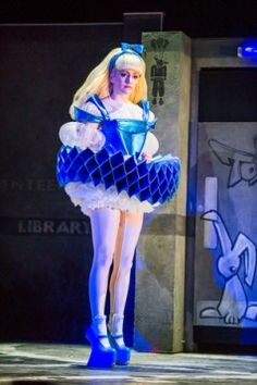Aly's brave, beautiful and kind avatar Alice (Carly Bawden) in Wonder.land at the National Theatre.
