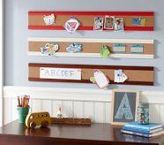 Cork board strips. Cute alternative to a regular cork board!