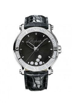 Chopard Happy Sport Stainless Steel Black Dial Diamond Bezel Watch #JRDunn