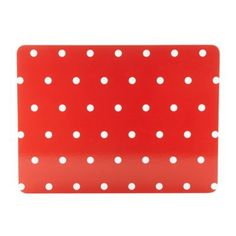 Set of four red spotted placemats at debenhams.com