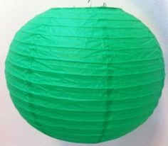 "12 Chinese Japanese Green Paper Lanterns 10"" by cn. $26.99. The lanterns are good for decoration or party use."