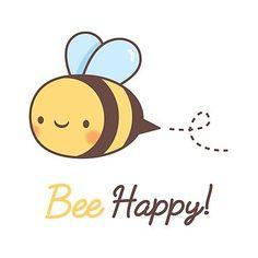 'Cute Bee Happy Pun' Sticker by rustydoodle - secret sister Doodles easy Happy Doodles, Simple Doodles, Cute Doodles, Funny Doodles, Funny Food Puns, Bee Drawing, Cartoon Bee, Cute Kawaii Drawings, Cute Cartoon Drawings