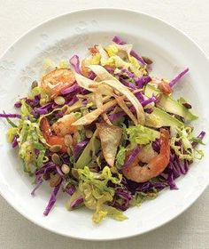 Shrimp and Avocado Salad With Crispy Tortillas recipe