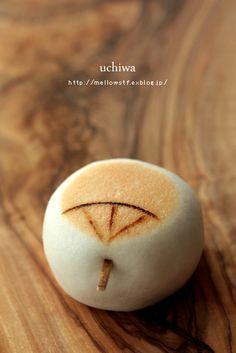 uchiwa, a traditional fan@Japanese sweets