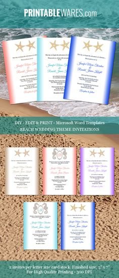 Gold and black wedding invitation templates for Microsoft Word - ms word invitation templates