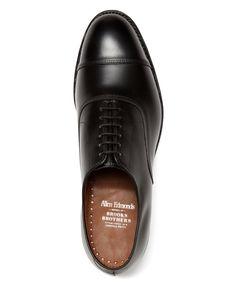 Allen Edmonds for Brooks Brothers Leather Captoes in Black