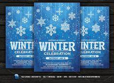 Winter Celebration Flyer by DesignWorkz on @creativemarket