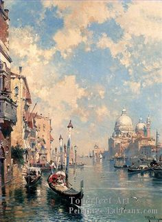 Paintings - Franz Richard Unterberger The Grand Canal, Venice Painting Landscape Art, Landscape Paintings, Grand Canal Venice, Venice Canals, Venice Painting, Italy Painting, Painting Art, Renaissance Kunst, Art Watercolor