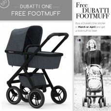 Buy the beautiful Dubatti One with a FREE footmuff worth £85. You can customise the fabric, chassis, handle colour and wheels. Message us for assistance in ordering a custom colour.