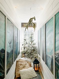 Our Magical Secret Wardrobe Reading Nook Transformed Into A Winter Wonderland Forest Decorated For Christmas (With Dragons! Narnia Wardrobe, Wardrobe Room, Magical Tree, Magical Forest, Dark Forest, Vintage Porch, Cool Christmas Trees, Christmas Ideas, Secret Rooms