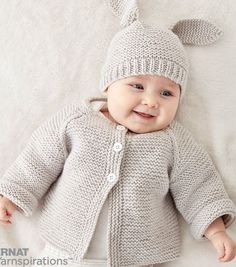 Make A Knit Baby Jacket Set