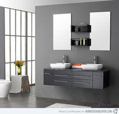 Trendy Modern Bathroom Vanity Set