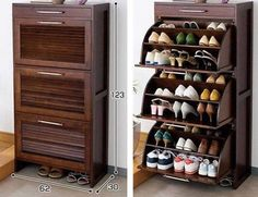 Bedroom Storage Design Shoe Cabinet Ideas For 2019 Shoe Storage Design, Shoe Cabinet Design, Shoe Storage Cabinet, Rack Design, Storage Cabinets, Shoe Shelves, Space Saving Furniture, Home Decor Furniture, Home Decor Bedroom
