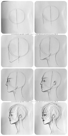 Easy face drawing tutorial with construction lines by AlicjaNai Pencil Art Drawings, Art Drawings Sketches, Easy Drawings, Art Illustrations, How To Draw Sketches, How Draw, How To Sketch, Realistic Drawings, Drawing For Beginners