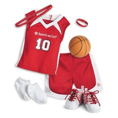 Shooting Star Basketball Outfit for Dolls American Girl Outlet, All American Girl Dolls, American Girl House, American Girl Clothes, Toddler Dolls, Baby Dolls, Robots For Kids, Doll Clothes Barbie, Boy Outfits