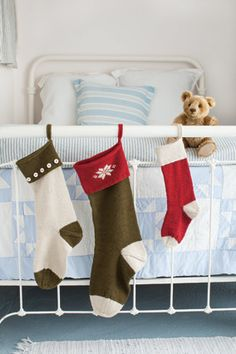 The young and the young at heart, we all want a hand knit stocking.  Think school or sport team colors. http://www.appleyarns.com/products/basic-christmas-stockings-pattern