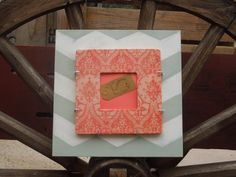 12 x 12 in. Interchangeable Wooden Chevron Frame by WhaleSaid, $24.00