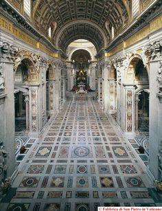 Interno delle Basilica di San Pietro, dall'entrata - Google Search