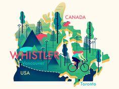 Whistler (Canada) Map - Owen Davey