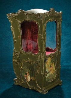 Outstanding French Wooden Sedan Chair with Painted Scenes in the Fragonard Manner 2500/3500   Art, Antiques & Collectibles Toys & Hobbies Dolls   Auctions Online   Proxibid