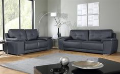 Tips That Help You Get The Best Leather Sofa Deal. Leather sofas and leather couch sets are available in a diversity of colors and styles. A leather couch is the ideal way to improve a space's design and th Grey Leather Sofa, Sofa, Furniture, Living Room Sofa, Grey Leather Sofa Living Room, Sofa Deals, Sofa Set, Living Room Furniture, Furniture Choice