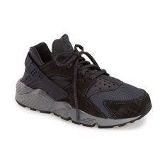 Nike 'Air Huarache' Sneaker ($120) ❤ liked on Polyvore featuring shoes, sneakers, lightweight sneakers, laced shoes, lace up sneakers, lightweight shoes and nike shoes