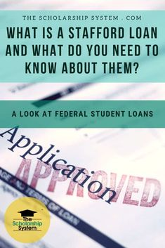 Many students rely on student loans to pay for college. The Stafford Loan is the most widely used option. Here's what you need to know about them. Student Loan Application, Apply For Student Loans, Private Student Loan, Student Loan Payment, Federal Student Loans, Paying Off Student Loans, Grants For College, College Costs, Financial Aid For College