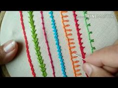 Wonderful Ribbon Embroidery Flowers by Hand Ideas. Enchanting Ribbon Embroidery Flowers by Hand Ideas. Hand Embroidery Videos, Embroidery Stitches Tutorial, Embroidery For Beginners, Hand Embroidery Patterns, Embroidery Techniques, Ribbon Embroidery, Cross Stitch Embroidery, Cactus Embroidery, Easy Stitch
