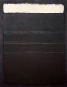 Untitled [White, Blacks, Grays on Maroon], 1963.  - Painting by Mark Rothko workman: honey-rider: