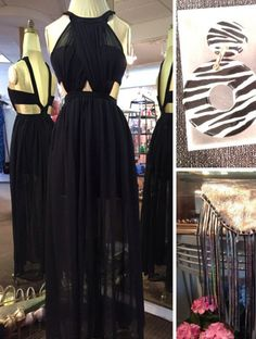 Black Prom Dresses,Backless Prom Dress,Chiffon Prom Dress,Long Prom Dresses,2018 Formal Gown,Evening Gowns For Teens PD20182808