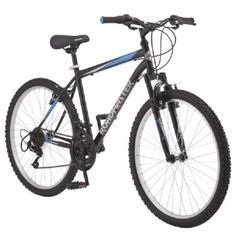 Mountain Bikes 26 inch Extra Sturdy Outdoors Exercise Men's Bicycle 18 Speed Durable Mountain Bike Men For Sale! roadmaster Granite Peak Sports Mountain Bike for Women Black Bicycles Men and Women Built with durable bicycle parts. Boys Mountain Bike, Mountain Bike Reviews, Mountain Biking, Mountain Style, Black Mountain, Shimano Bike, Speed Bike, Bicycle Parts, Bicycle Engine